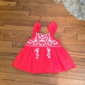Gap Kids Red Embroidered Top